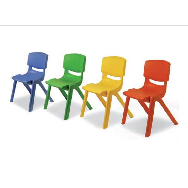 Sedia in acrilico seduta 26 colore blu panche e sedie for Arredo scuola materna