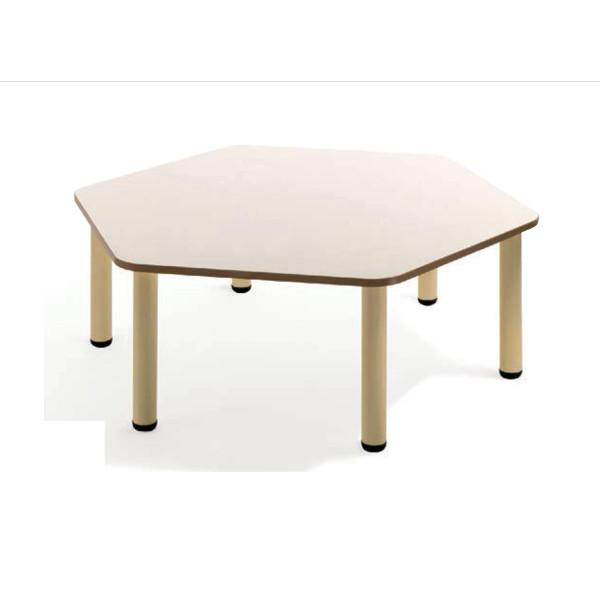 Tavolo materna esagonale con gambe in metallo tavoli cwr for Arredo scuola materna