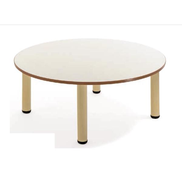 Tavolo materna tondo con gambe in metallo tavoli cwr for Arredo scuola materna