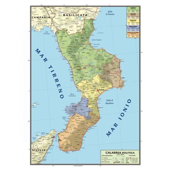 Mappa Puglia E Basilicata.Cartina Geografica Bifacciale 100x140cm Regione Puglia E Basilicata Carte Geografiche E Globi Cwr