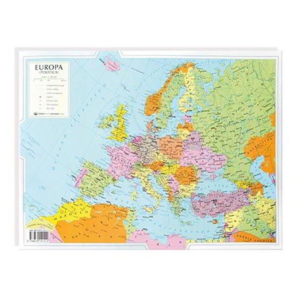 Cartina Politica Italia Formato A3.Cartina Geografica Bifacciale 29 7x42cm Europa Carte Geografiche E Globi Cwr