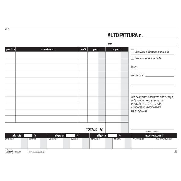 BLOCCO AUTOFATTURA 15x23cm 2 COPIE